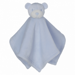 "Bear Blankie, blue 16""*16"""
