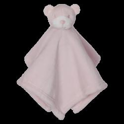 "Bear Blankie, pink 16""*16"""