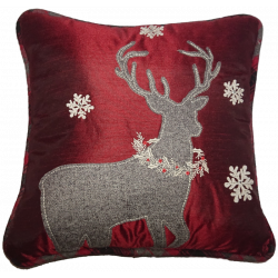 "Christmas Deer Pillow 13""*5.5"""