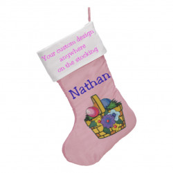 "Easter Stocking 17"", Soft Pink"