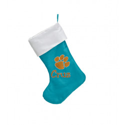 "Easter Stocking 17"", Teal Blue"